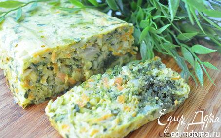 Рецепт Ароматный кугель из молодых овощей
