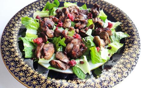 Рецепт Теплый салат с куриной печенью