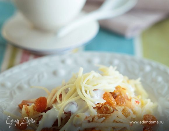 Десерт с сыром и изюмом «Сырный восторг»