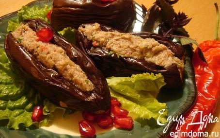 Рецепт Маринованные баклажаны с ореховой начинкой