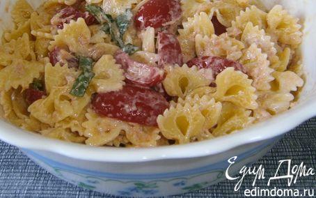 Рецепт Холодная паста: Бантики с помидорами и тунцом