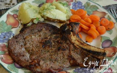 Рецепт Говяжьи стейки на гриле