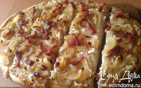 Рецепт Тарт фламбе или эльзасский луковый пирог (tarte flambée)