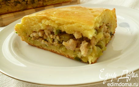 Рецепт Вкуснейший пирог из творожного теста с мясной начинкой