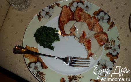Рецепт Индейка Дорн Блю со шпинатом + хрустики из индейки с пармезаном и лёгкий салат с брынзой