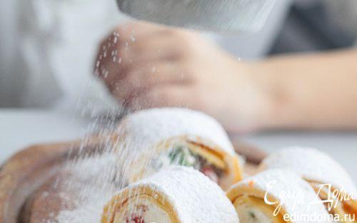 Рецепт Творожный рулет с цукатами