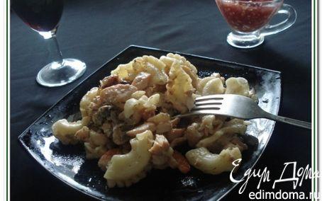 Рецепт Паста с форелью и морепродуктами