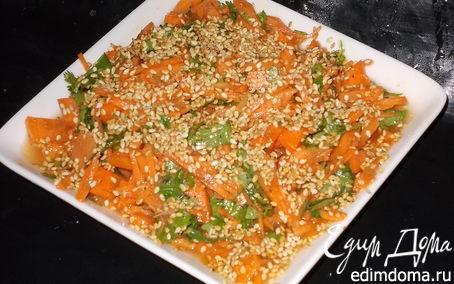 Рецепт Морковный салат с кунжутом