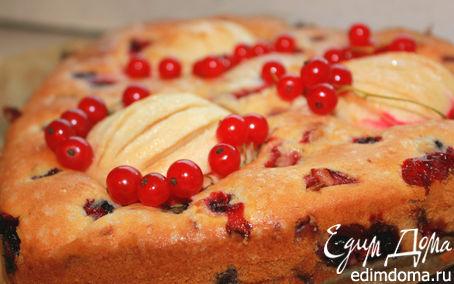 Рецепт Бретонский пирог клубнично-смородиновый