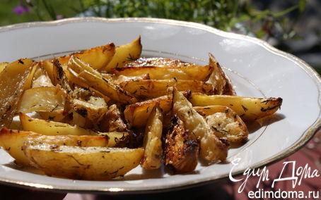 Рецепт Картофель с укропом и чесноком