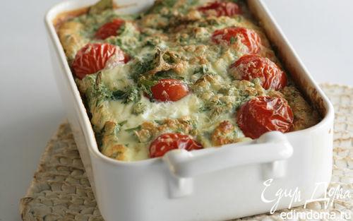 Рецепт Клафути с козьим сыром и помидорами черри