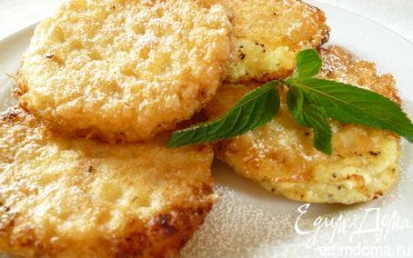 Рецепт Вафельные сырники с абрикосами