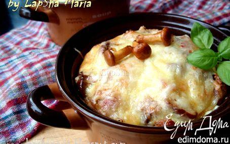 Рецепт Фриттата с лисичками и беконом