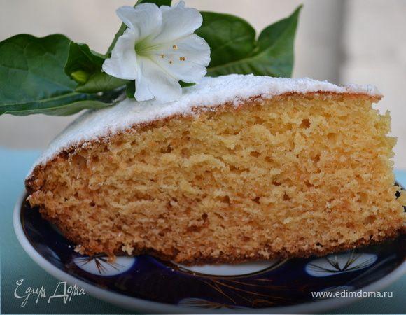 Творожно-медовый пирог к чаю