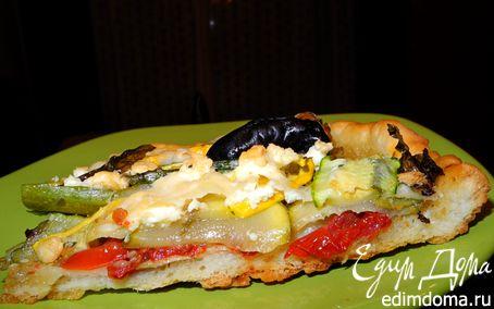 Рецепт Гастроподарки. Пицца с цукини и вялеными помидорами