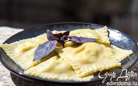 Рецепт Равиоли с рикоттой и шпинатом (тесто от Джейми Оливера)