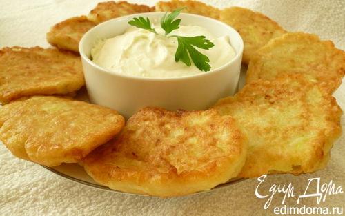 Рецепт Кабачковые оладушки на кефире