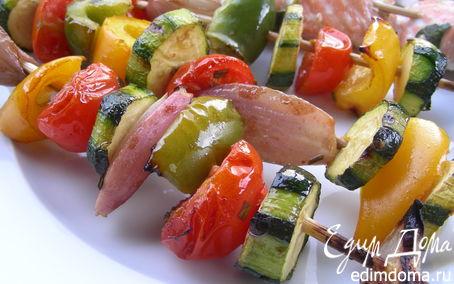 Рецепт Летние овощные шашлычки-гриль