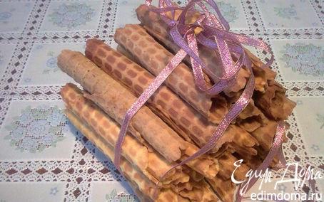 Рецепт Хрустящие вафельные трубочки в вафельнице