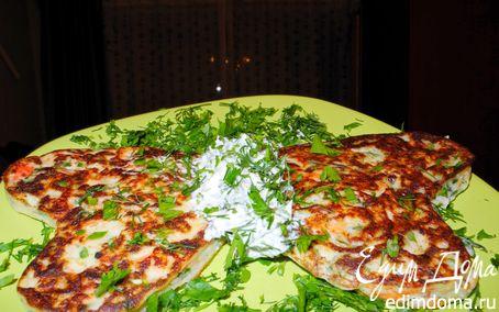 Рецепт Оладьи с сёмгой и зеленью