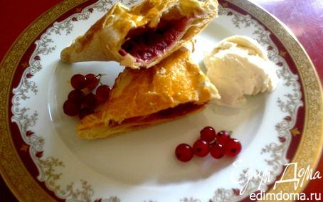 Рецепт слойки с ягодами