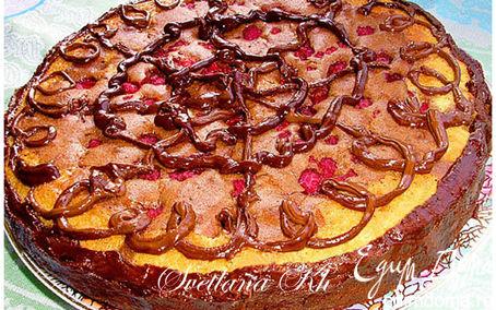 Рецепт Шоколадно-малиновый пирог