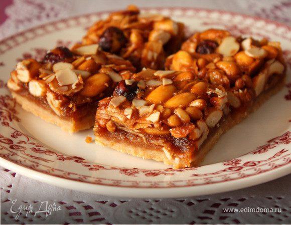 Ореховые квадратики с медом