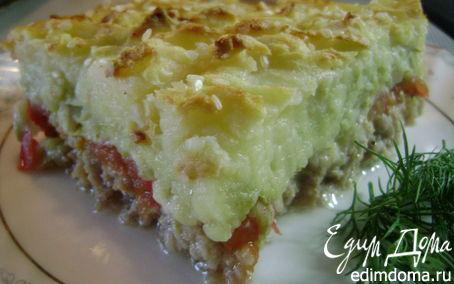 Рецепт Слоеная запеканка с мясом и сыром