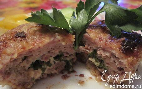 Рецепт Котлеты с начинкой из сыра и зелени