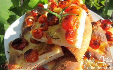 Рецепт Фокачча на картофельном тесте с черри в хлебопечке