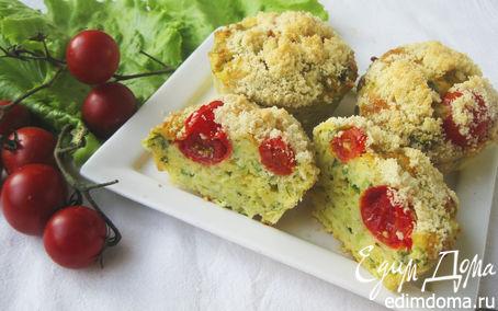 Рецепт Кабачковые кексы с хрустящей посыпкой