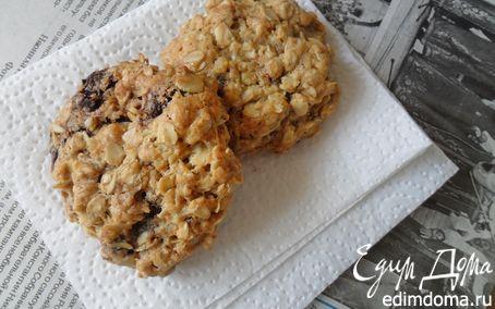 Рецепт Овсяное печенье с шоколадом