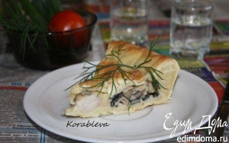 Рецепт Пирог с курицей и грибами