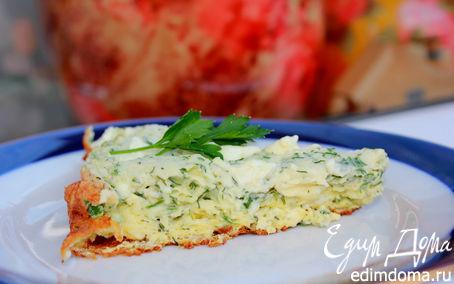 Рецепт Взбитый омлет с сыром и зеленью