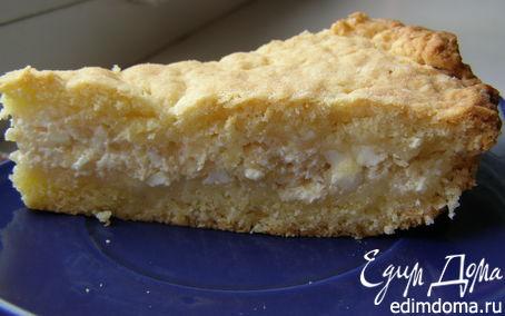 Рецепт Песочный пирог с творогом и яблоком