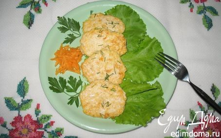 Рецепт Куриные оладьи с тыквой