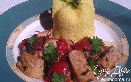 Рецепт Мясо, тушенное в томатах с пряностями