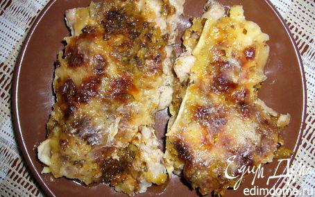 Рецепт Куриное филе под сыром с кисло-сладкой прослойкой