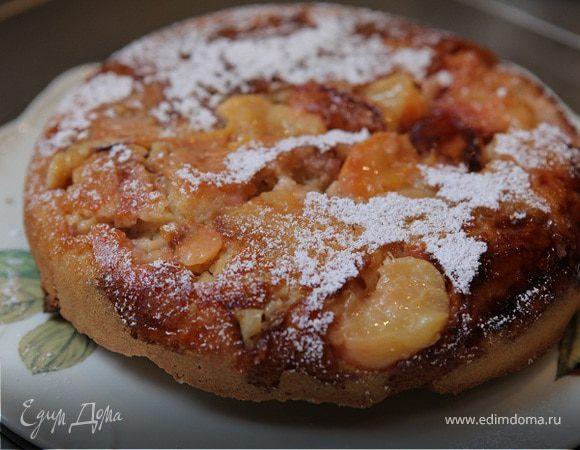 Персиковый пирог-перевертыш на сметане