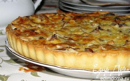 Рецепт Пирог с лесными грибами