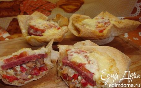 Рецепт Маффины-пиццы из лаваша