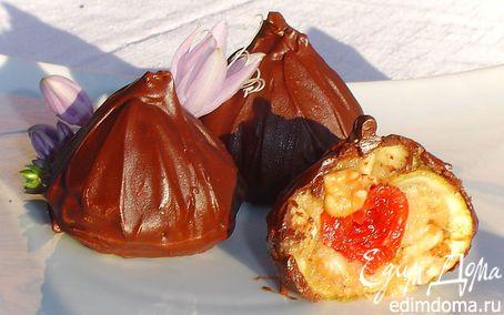 Рецепт Трюфели с инжиром, орехами, вялеными вишнями
