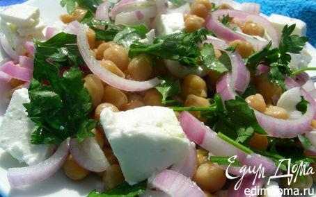 Рецепт Салат с нутом и фетой