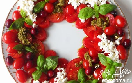 Рецепт Новогодне-рождественский венок (a la caprece)