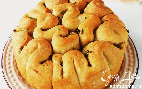 Рецепт Чесночный хлеб-гармошка