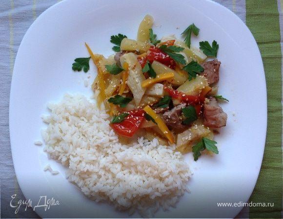 Летние овощи с мясом