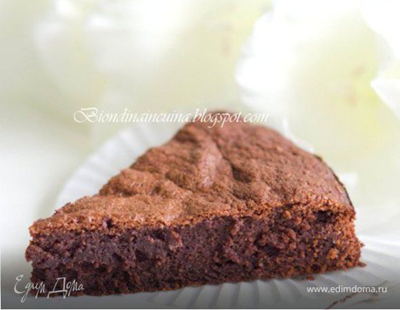 """Быстрый шоколадно-миндальный пирог """"Шоколадное наслаждение"""""""
