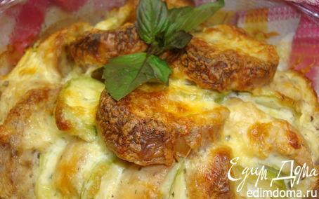 Рецепт Хлебная запеканка с кабачками