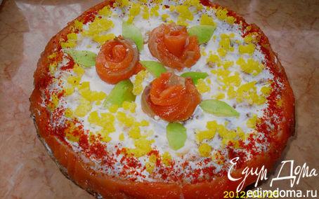 Рецепт Блинный закусочный торт с семгой