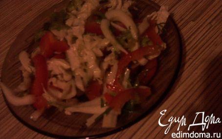Рецепт Салат из кальмаров со сладким перцем
